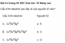 Bài 6.4 trang 49 Sách bài tập (SBT) Hóa học 10 Nâng cao