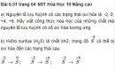 Bài 6.51 trang 64 Sách bài tập (SBT) Hóa học 10 Nâng cao