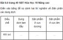 Bài 6.6 trang 49 Sách bài tập (SBT) Hóa học 10 Nâng cao