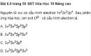 Bài 6.9 trang 50 Sách bài tập (SBT) Hóa học 10 Nâng cao