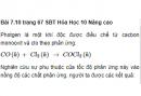 Bài 7.10 trang 67 Sách bài tập (SBT) Hóa học 10 Nâng cao