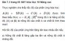 Bài 7.3 trang 65 Sách bài tập (SBT) Hóa học 10 Nâng cao