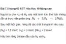 Bài 7.5 trang 66 Sách bài tập (SBT) Hóa học 10 Nâng cao