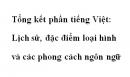 Soạn văn lớp 12: Tổng kết phần tiếng Việt: Lịch sử, đặc điểm loại hình và các phong cách ngôn ngữ