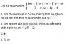 Câu 3.59 trang 68 SBT Đại số 10 Nâng cao
