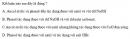 Bài 8.47 trang 69 Sách bài tập (SBT) Hóa học 11 Nâng cao