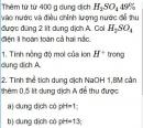 Bài 1.44 trang 10 Sách bài tập (SBT) Hóa học 11 Nâng cao