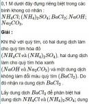 Bài 1.46 trang 10 Sách bài tập (SBT) Hóa học 11 Nâng cao