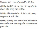 Bài 2.4 trang 12 Sách bài tập (SBT) Hóa học 11 Nâng cao