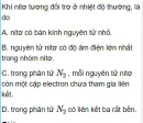 Bài 2.6 trang 13 Sách bài tập (SBT) Hóa học 11 Nâng cao