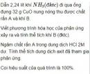 Bài 2.15 trang 15 Sách bài tập (SBT) Hóa học 11 Nâng cao
