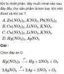 Bài 2.30 trang 18 Sách bài tập (SBT) Hóa học 11 Nâng cao