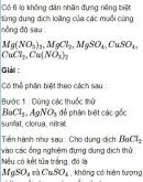 Bài 2.31* trang 18 Sách bài tập (SBT) Hóa học 11 Nâng cao