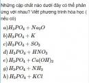 Bài 2.47 trang 21 Sách bài tập (SBT) Hóa học 11 Nâng cao