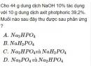 Bài 2.50 trang 22 Sách bài tập (SBT) Hóa học 11 Nâng cao