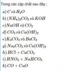 Bài 3.12* trang 27 Sách bài tập (SBT) Hóa học 11 Nâng cao
