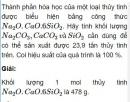 Bài 3.21 trang 28 Sách bài tập (SBT) Hóa học 11 Nâng cao