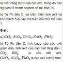 Bài 3.3 trang 25 Sách bài tập (SBT) Hóa học 11 Nâng cao