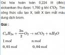 Bài 5.23 trang 44 Sách bài tập (SBT) Hóa học 11 Nâng cao