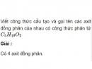 Bài 9.17 trang 73 Sách bài tập (SBT) Hóa học 11 Nâng cao