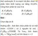 Bài 9.18 trang 73 Sách bài tập (SBT) Hóa học 11 Nâng cao