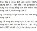 Bài 9.26 trang 74 Sách bài tập (SBT) Hóa học 11 Nâng cao