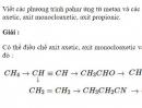 Bài 9.31 trang 75 Sách bài tập (SBT) Hóa học 11 Nâng cao