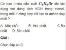 Bài 8.14 trang 63 Sách bài tập (SBT) Hóa học 11 Nâng cao