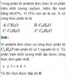 Bài 9.12 trang 71 Sách bài tập (SBT) Hóa học 11 Nâng cao
