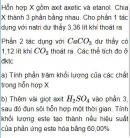 Bài 9.40 trang 76 Sách bài tập (SBT) Hóa học 11 Nâng cao