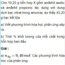 Bài 9.8 trang 71 Sách bài tập (SBT) Hóa học 11 Nâng cao