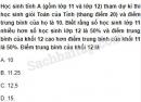 Câu 5.33 trang 183 SBT Đại số 10 Nâng cao