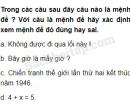 Câu 1.1 trang 6 SBT Đại số 10 Nâng cao