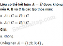 Câu 1.30 trang 11 SBT Đại số 10 Nâng cao