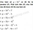 Câu 2.26 trang 34 SBT Đại số 10 Nâng cao