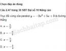 Câu 2.47, 2.48, 2.49, 2.50, 2.51, 2.52 trang 38, 39 SBT Đại số 10 Nâng cao