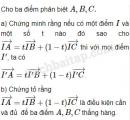 Bài 15 trang 7 SBT Hình học 10 Nâng cao