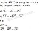 Bài 54 trang 14 SBT Hình học 10 Nâng cao