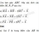 Bài 56 trang 14 SBT Hình học 10 Nâng cao