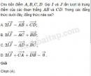 Bài 6, 7, 8, 9, 10 trang 15, 16 SBT Hình học 10 Nâng cao