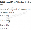 Bài 23, 24, 25, 26, 27 trang 127, 128 SBT Hình học 10 Nâng cao