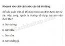 Câu 3 trang 43 Vở bài tập Khoa học 5