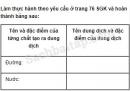Câu 1 trang 65 Vở bài tập Khoa học 5
