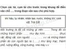 Câu 2 trang 109 Vở bài tập Khoa học 5