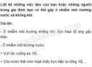 Câu 3 trang 116 Vở bài tập Khoa học 5
