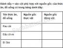 Câu 1 trang 9 Vở bài tập Khoa học 4